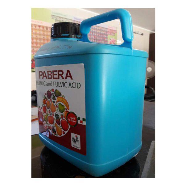 کود هیومیک اسید و فولویک اسید پابرا 5 لیتر